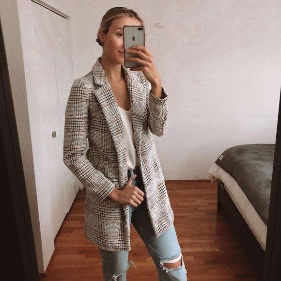 Dynamite plaid dress jacket